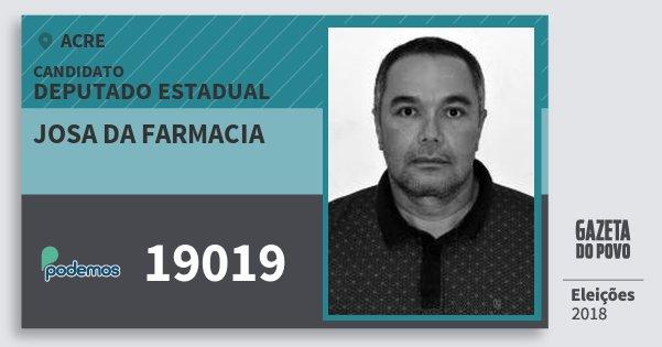 Santinho Josa da Farmacia 19019 (PODE) Deputado Estadual | Acre | Eleições 2018