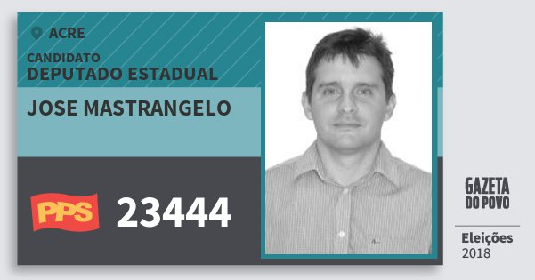 Santinho Jose Mastrangelo 23444 (PPS) Deputado Estadual | Acre | Eleições 2018