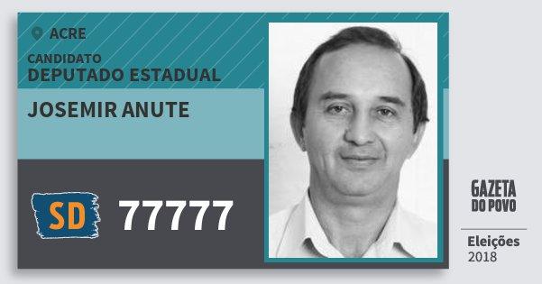 Santinho Josemir Anute 77777 (SOLIDARIEDADE) Deputado Estadual | Acre | Eleições 2018