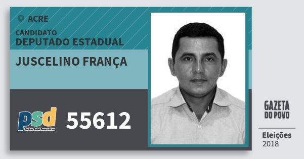 Santinho Juscelino França 55612 (PSD) Deputado Estadual | Acre | Eleições 2018