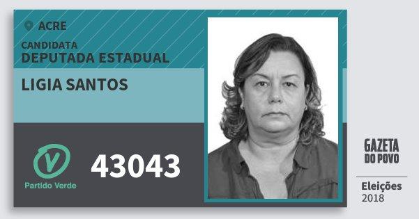 Santinho Ligia Santos 43043 (PV) Deputada Estadual | Acre | Eleições 2018