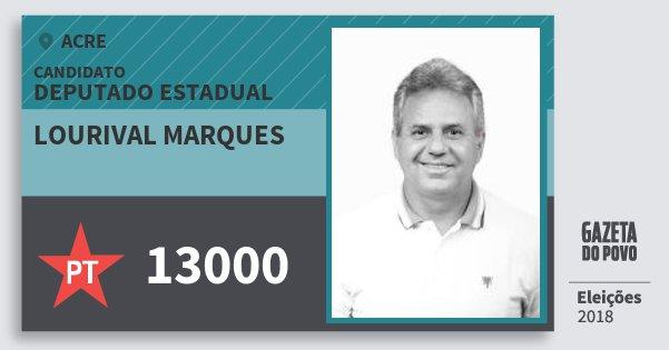 Santinho Lourival Marques 13000 (PT) Deputado Estadual | Acre | Eleições 2018