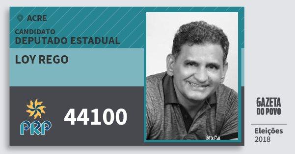 Santinho Loy Rego 44100 (PRP) Deputado Estadual | Acre | Eleições 2018
