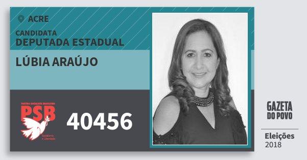 Santinho Lúbia Araújo 40456 (PSB) Deputada Estadual | Acre | Eleições 2018