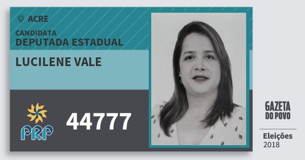 Santinho Lucilene Vale 44777 (PRP) Deputada Estadual | Acre | Eleições 2018