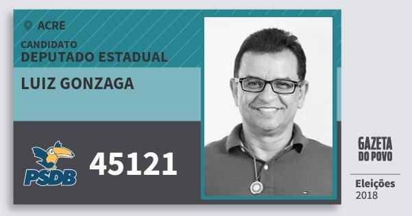 Santinho Luiz Gonzaga 45121 (PSDB) Deputado Estadual | Acre | Eleições 2018