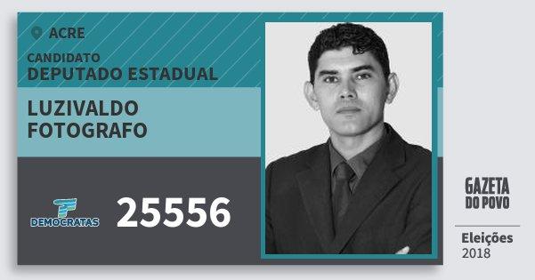 Santinho Luzivaldo Fotografo 25556 (DEM) Deputado Estadual | Acre | Eleições 2018