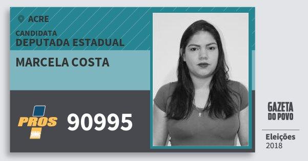 Santinho Marcela Costa 90995 (PROS) Deputada Estadual | Acre | Eleições 2018