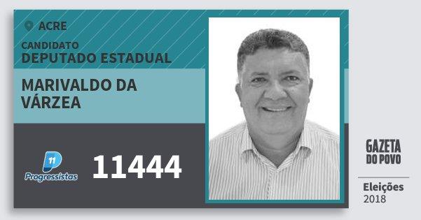 Santinho Marivaldo da Várzea 11444 (PP) Deputado Estadual | Acre | Eleições 2018
