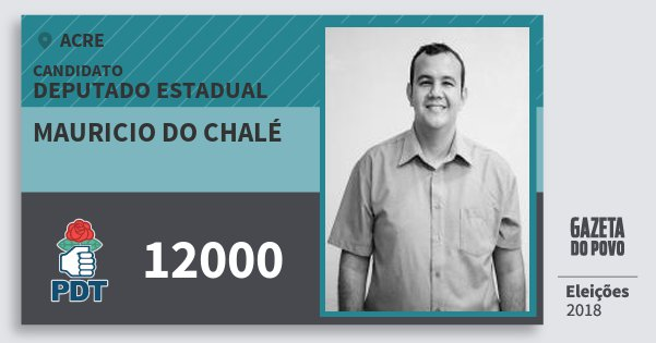 Santinho Mauricio do Chalé 12000 (PDT) Deputado Estadual | Acre | Eleições 2018