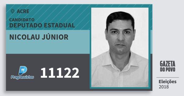 Santinho Nicolau Júnior 11122 (PP) Deputado Estadual | Acre | Eleições 2018