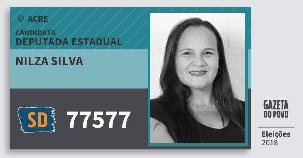 Santinho Nilza Silva 77577 (SOLIDARIEDADE) Deputada Estadual | Acre | Eleições 2018