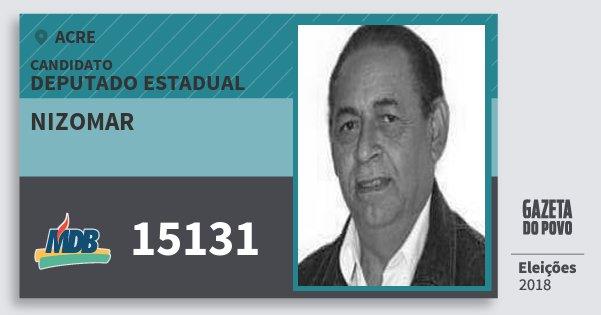 Santinho Nizomar 15131 (MDB) Deputado Estadual | Acre | Eleições 2018