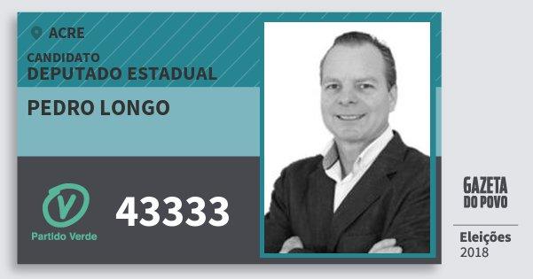 Santinho Pedro Longo 43333 (PV) Deputado Estadual | Acre | Eleições 2018