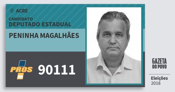 Santinho Peninha Magalhães 90111 (PROS) Deputado Estadual | Acre | Eleições 2018