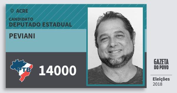Santinho Peviani 14000 (PTB) Deputado Estadual | Acre | Eleições 2018