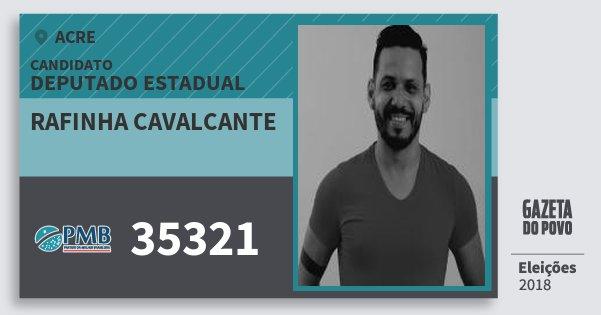 Santinho Rafinha Cavalcante 35321 (PMB) Deputado Estadual | Acre | Eleições 2018