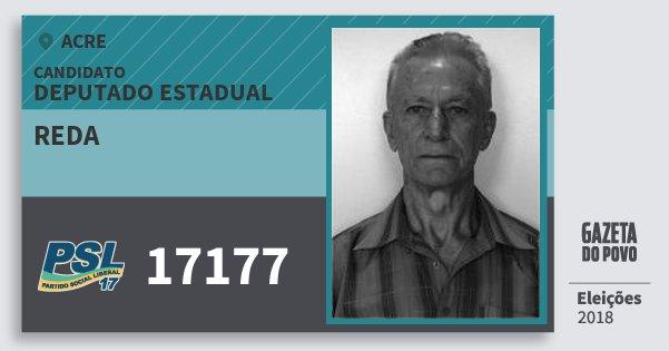 Santinho Reda 17177 (PSL) Deputado Estadual | Acre | Eleições 2018