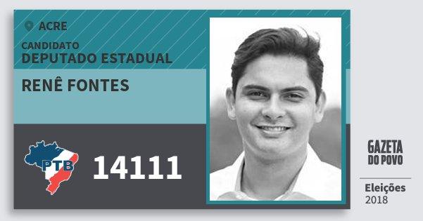 Santinho Renê Fontes 14111 (PTB) Deputado Estadual | Acre | Eleições 2018