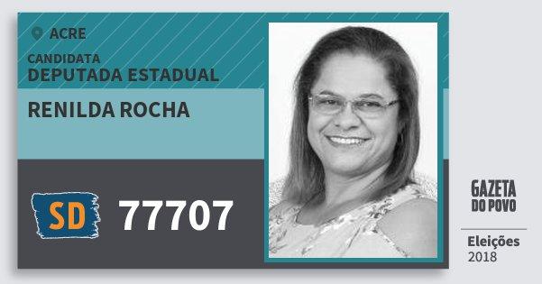 Santinho Renilda Rocha 77707 (SOLIDARIEDADE) Deputada Estadual | Acre | Eleições 2018
