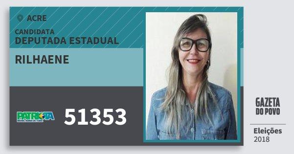 Santinho Rilhaene 51353 (PATRI) Deputada Estadual | Acre | Eleições 2018
