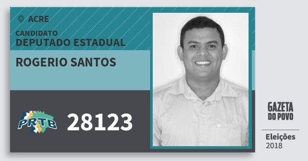 Santinho Rogerio Santos 28123 (PRTB) Deputado Estadual | Acre | Eleições 2018