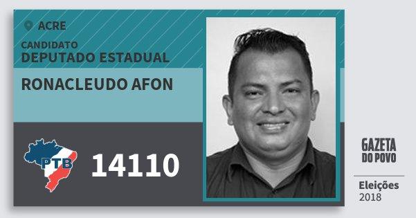 Santinho Ronacleudo Afon 14110 (PTB) Deputado Estadual | Acre | Eleições 2018