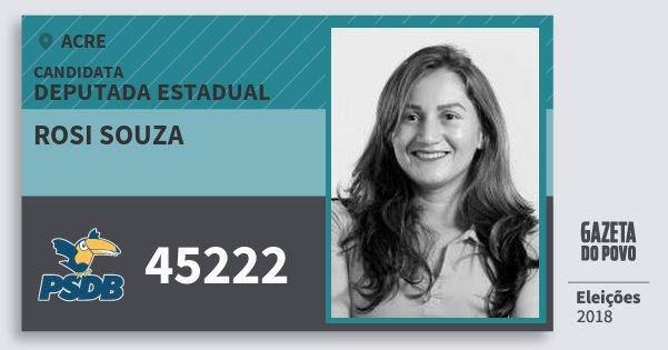 Santinho Rosi Souza 45222 (PSDB) Deputada Estadual | Acre | Eleições 2018