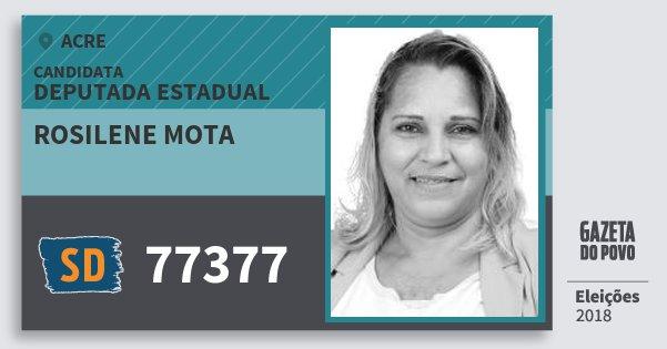 Santinho Rosilene Mota 77377 (SOLIDARIEDADE) Deputada Estadual | Acre | Eleições 2018