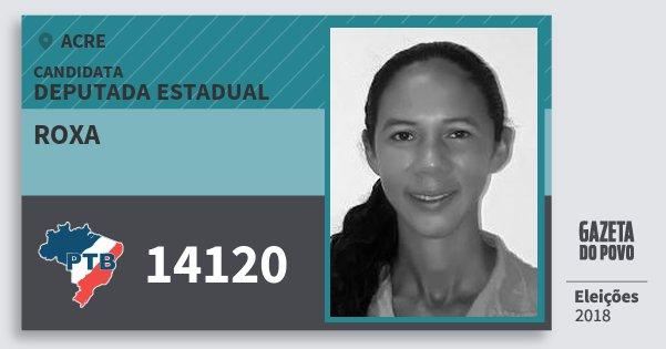 Santinho Roxa 14120 (PTB) Deputada Estadual | Acre | Eleições 2018