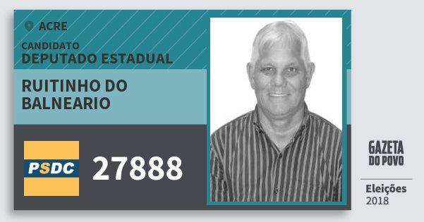 Santinho Ruitinho do Balneario 27888 (DC) Deputado Estadual | Acre | Eleições 2018