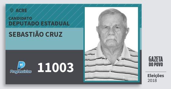 Santinho Sebastião Cruz 11003 (PP) Deputado Estadual | Acre | Eleições 2018