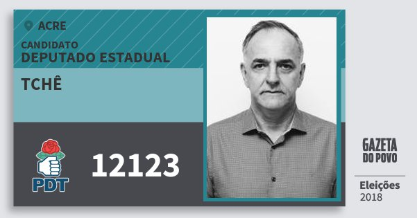 Santinho Tchê 12123 (PDT) Deputado Estadual | Acre | Eleições 2018