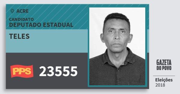 Santinho Teles 23555 (PPS) Deputado Estadual | Acre | Eleições 2018