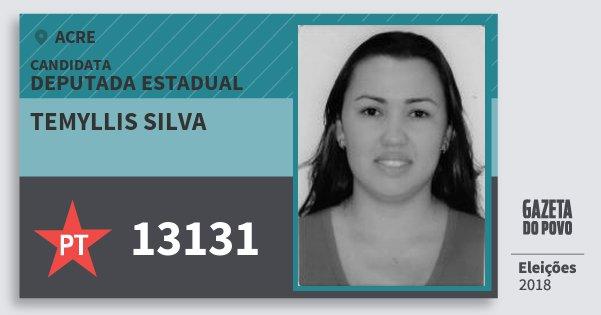Santinho Temyllis Silva 13131 (PT) Deputada Estadual | Acre | Eleições 2018