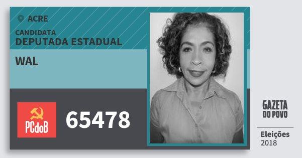 Santinho Wal 65478 (PC do B) Deputada Estadual | Acre | Eleições 2018