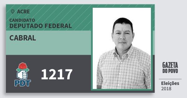 Santinho Cabral 1217 (PDT) Deputado Federal | Acre | Eleições 2018