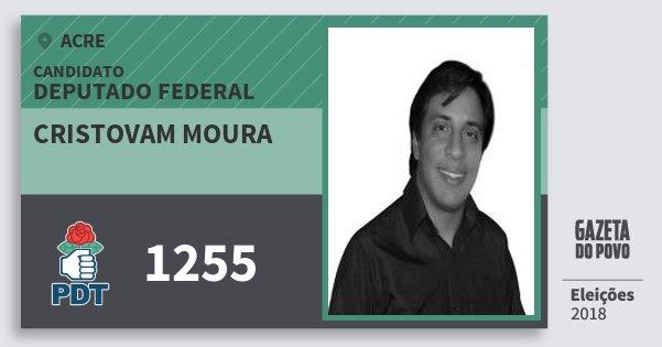 Santinho Cristovam Moura 1255 (PDT) Deputado Federal | Acre | Eleições 2018