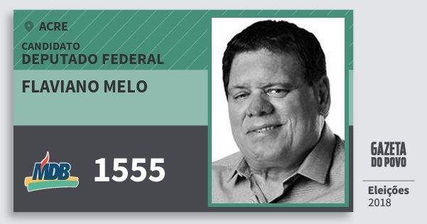 Santinho Flaviano Melo 1555 (MDB) Deputado Federal | Acre | Eleições 2018