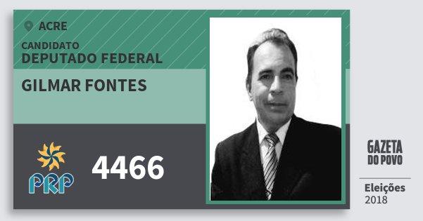 Santinho Gilmar Fontes 4466 (PRP) Deputado Federal | Acre | Eleições 2018