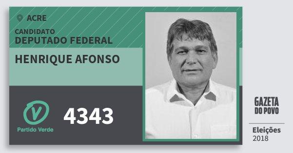 Santinho Henrique Afonso 4343 (PV) Deputado Federal | Acre | Eleições 2018