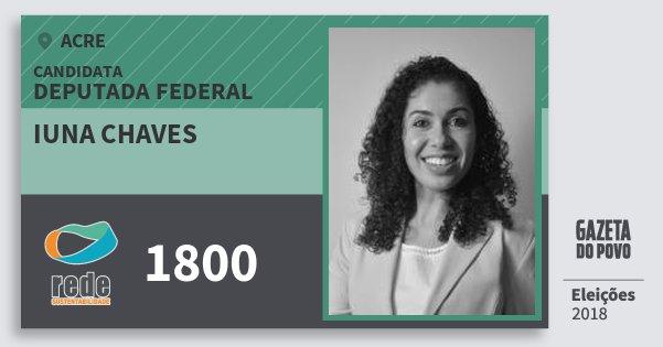 Santinho Iuna Chaves 1800 (REDE) Deputada Federal   Acre   Eleições 2018