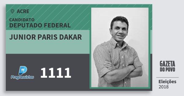 Santinho Junior Paris Dakar 1111 (PP) Deputado Federal | Acre | Eleições 2018
