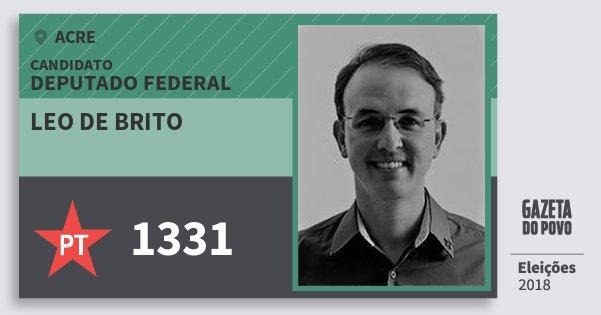 Santinho Leo de Brito 1331 (PT) Deputado Federal | Acre | Eleições 2018