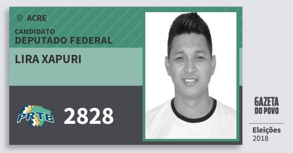 Santinho Lira Xapuri 2828 (PRTB) Deputado Federal | Acre | Eleições 2018