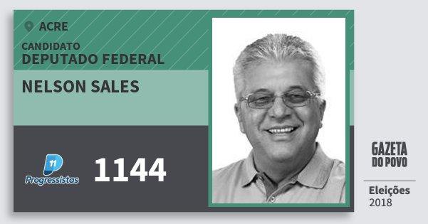 Santinho Nelson Sales 1144 (PP) Deputado Federal | Acre | Eleições 2018