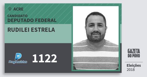 Santinho Rudilei Estrela 1122 (PP) Deputado Federal | Acre | Eleições 2018