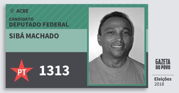 Santinho Sibá Machado 1313 (PT) Deputado Federal | Acre | Eleições 2018
