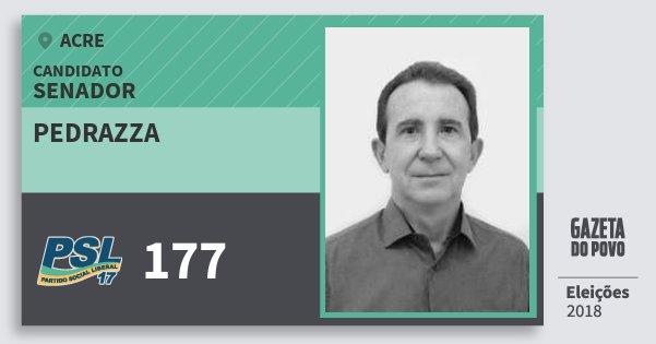 Santinho Pedrazza 177 (PSL) Senador | Acre | Eleições 2018