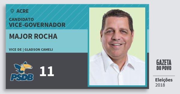 Santinho Major Rocha 11 (PSDB) Vice-governador | Acre | Eleições 2018